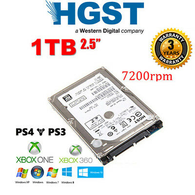 "New 1TB 2.5"" HITACHI HGST SATA INTERNAL Hard Drive 7200RPM for XBOX PS4"