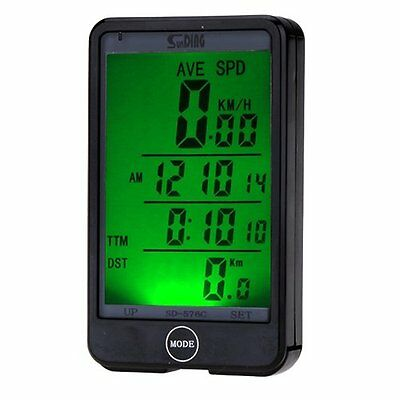 JSG Accessories® Wireless LCD waterproof Cycle Bike Bicycle Computer Odometer