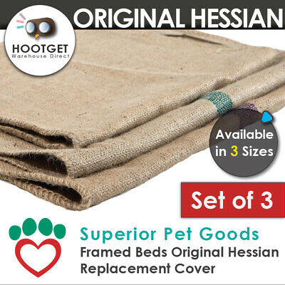 [3 Size]Superior Jute Hessian Dog Bed Replacement Cover Potato Sack Party Game