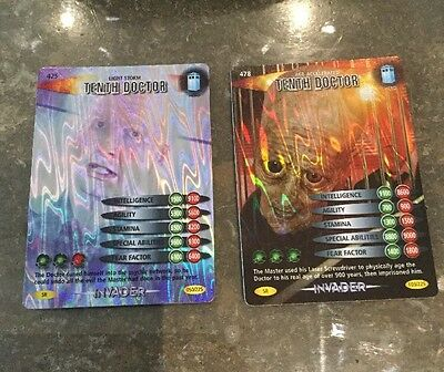 Two Doctor Who Battles In Time Super Rare Tenth Doctor Cards