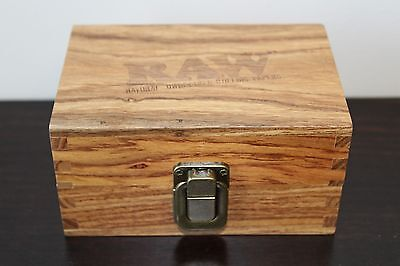 RAW Maple Wood Rolling Paper Storage Stash Box w Magnetic Close~Fast Shipping