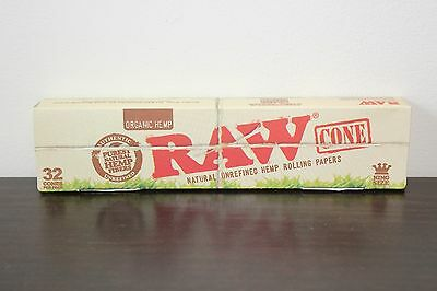 32 RAW Organic King Size Paper Cones~ Pre Rolled Cones~Fast Free Ship