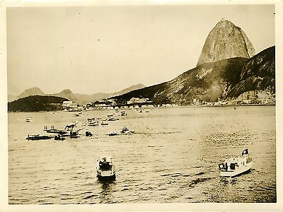 """Hydravions italiens Baie de BOTAFOGA 1931"" Photo Presse orig. WIDE WORLD PHOTOS"