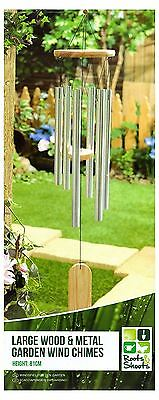 Wind Chimes Large Wood And Metal Garden Home Outdoor Decor