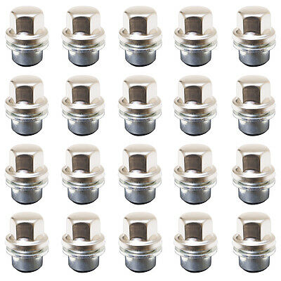 Land Rover Discovery 2 Range Rover P38 Alloy Wheel Nut Stainless Cap x 20