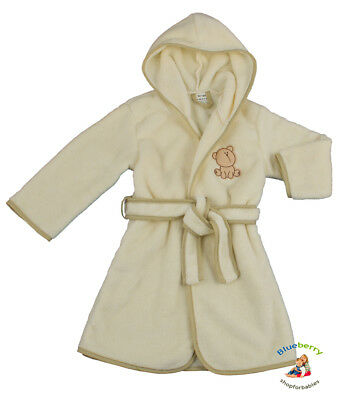 BlueberryShop  Embroidered Luxurious Hooded Soft Warm and Fluffy Fleece Bathrobe