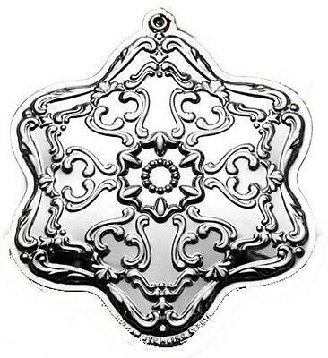 2014 Gorham Chantilly Snowflake Sterling Christmas Ornament 7th Edition