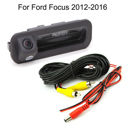 Car Trunk Handle CCD Rear View Parking Camera For Ford Focus 2011-2017 2018