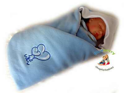 BlueberryShop LUXURIOUS FLEECE VERY WARM Swaddle Wrap Blanket Sleeping Bag bab