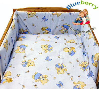 BlueberryShop  2 pcs BABY COT BED BUNDLE BEDDING SET DUVET+PILLOW COVERS