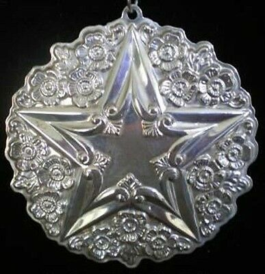 Gorham Buttercup Star Sterling Silver Christmas Ornament