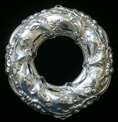 Gorham Rennaisance Wreath Sterling Silver Christmas Ornament