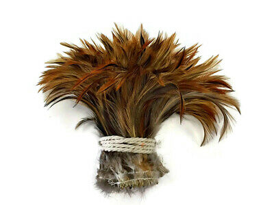 1 Yard - Furnace Red Strung Rooster Neck Hackle Wholesale Feathers (Bulk)