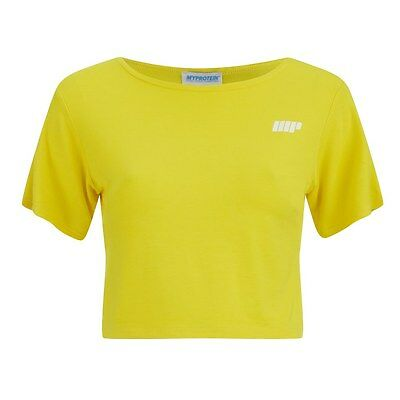 Myprotein Women's Cropped T-Shirt, Yellow