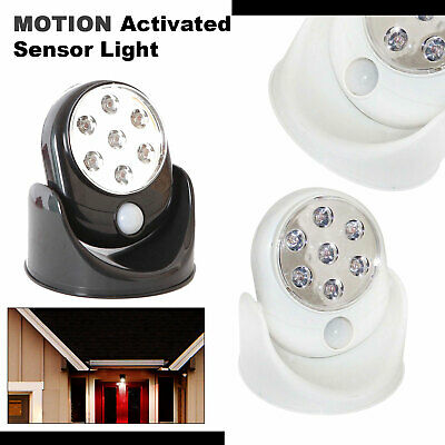 3 x Motion Activated Cordless Sensor 7 LED Light Outdoor Garden Wall Patio Shed