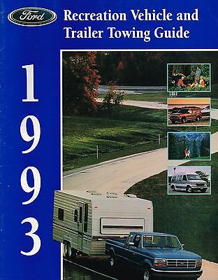 1993 FORD RV/Truck Tow Brochure:F Series,150,250,Class A MOTORHOME,CAMPER,BRONCO