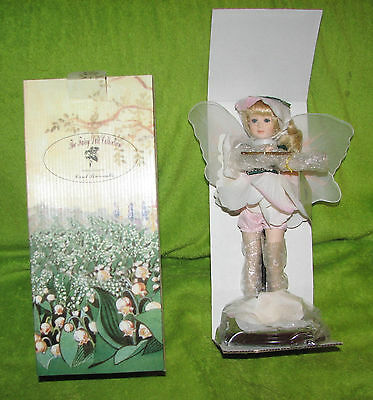 """12 """" Porcelain Doll By Carol Perciavalle The Fairy Collection Green NIB w/stand"""