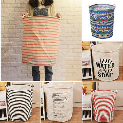 New Large Capacity Waterproof Folding Laundry Hamper Bag Clothes Storage Baskets