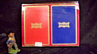 FRISCO Railroad Double Set Sealed Congress Playing Cards,  Lot#3725