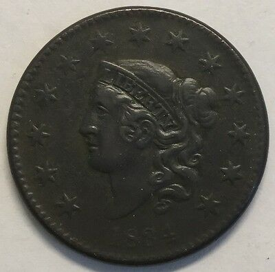 1834 1C Coronet Head Large Cent #