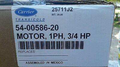 Carrier Transicold 54-00586-20 Emlectric Motoe 3/4 Hp Single Phase  208-240/480