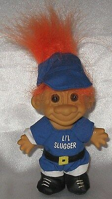 "Russ 5"" Troll  Li'L Slugger Orange Hair No Bat"