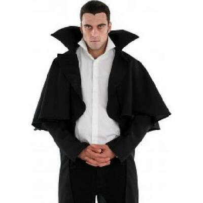Blacj Vampire Coat Costume Halloween Fancy Dress
