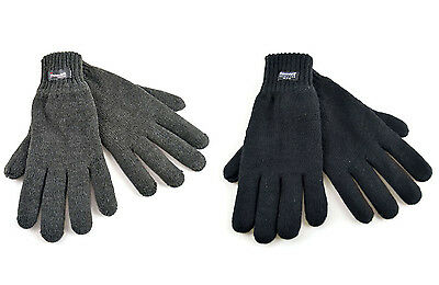 HEATGUARD GL130BK THINSULATE CASUAL WINTER MENS WARM GLOVES BLACK THERMAL COMFY