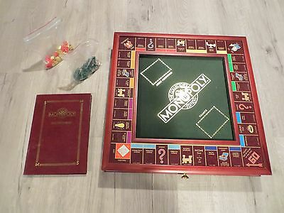 FRANKLIN MINT COLLECTORS EDITION MONOPOLY WOODEN GAME COMPLETE SET 1991 FreeShip
