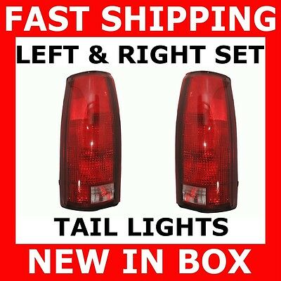 New Tail Lights Chevy Gmc Truck Suv Pair Set Both Sides Rear Brake Stop Lamps