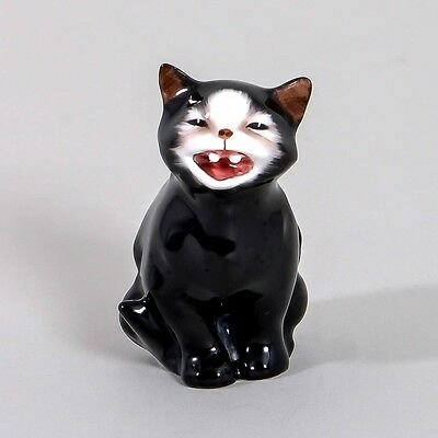 """Royal Doulton LUCKY Black Cat K12 Fine China Figurine 2.5"""" Collectible Signed"""