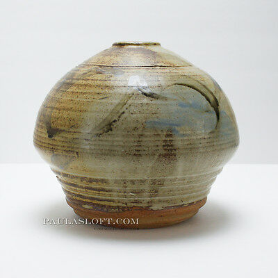 Mid Century Modern Pottery Vase Abstract Vintage Signed Brody