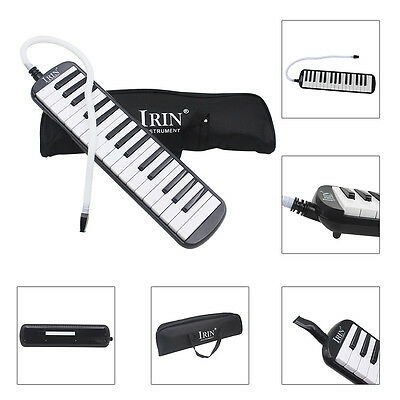 32 Key Piano Style Melodica With Box Organ Accordion Mouth Piece Blow Key Board
