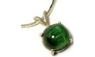 "Antique 19thC 3½ct Tourmaline Cat's-Eye Ancient Roman ""Emerald"" Gem of Rainbows"