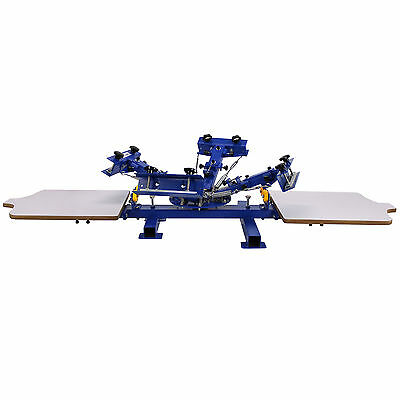 2 Station 4 Color Screen Printing Press NS402 For T-Shirt Printing