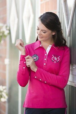 LONG-SLEEVED POLO SHIRT -POLO CLASSIC- by HKM - (5342) RRP $79.95 in Pink