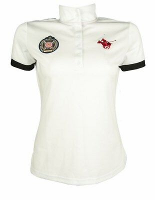 LADIES COMPETITION SHIRT -POLO CLASSIC- by HKM - (6994) RRP $79.95 in White
