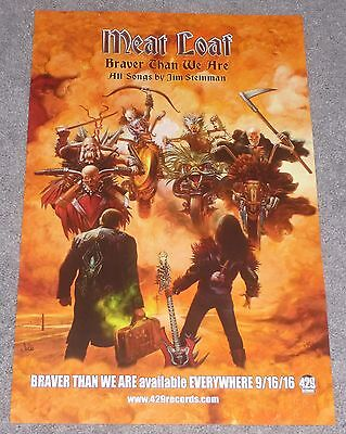 MEAT LOAF BRAVER THAN WE ARE 11x17 inch PROMO POSTER