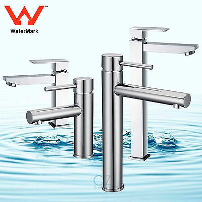 WELS Brass Tall Round/Square Basin Mixer Kitchen Sink Vanity Faucet Tap Chrome