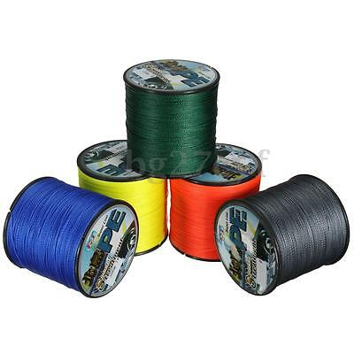 5 Color 300M Super Strong PE Braided Sea Fishing Line Bulk Spool 3-34kg 6.6-75LB