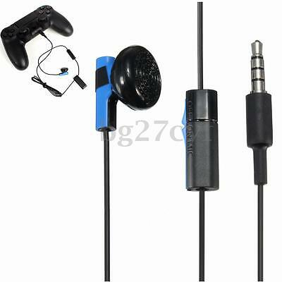 For Sony PS4 PlayStation 4 Controller Headphone Earphone Earbud Headset + Mic