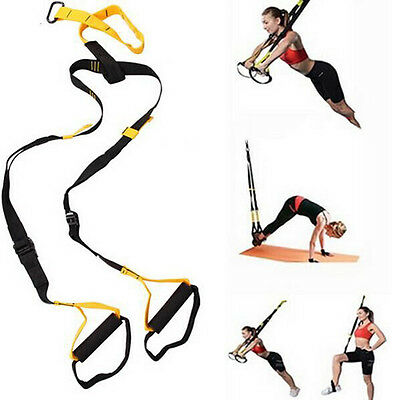 Suspension Trainer Training Straps Fitness Kit Body Weight Exercise Home Gym