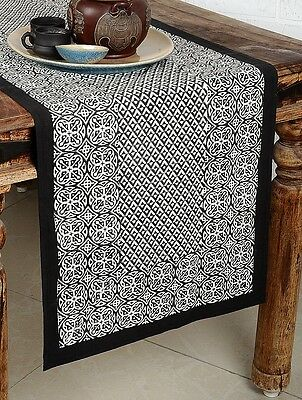 Indian Table Runner Hand Block Printed Cotton