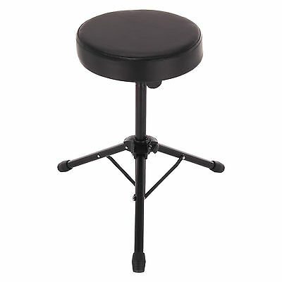 Black Folding Music Guitar Keyboard Drum Stool & Throne Piano Chair Padded Seat