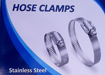 10 pcs Perforated 410SS Hose Clamps with diameter range 102mm-127mm (4-5 inches)