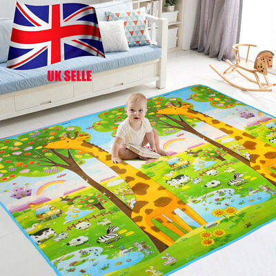 200*180cm Giraffe Kids Baby Playmat Play Mats Rug Carpet Educational Game 2 Side