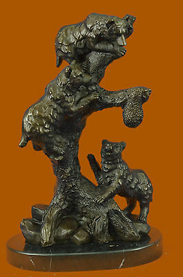 Hot Cast Father Mother Son Looking for Honey Bronze Statue Sculpture DecoEf