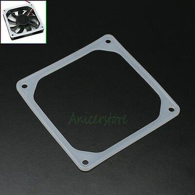 140mm PC Case Fan Silicone Anti-vibration Gasket Shock Absorption Pad Black 14cm