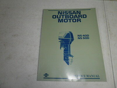 Factory Nissan outboard motor service manual 40 50 hp