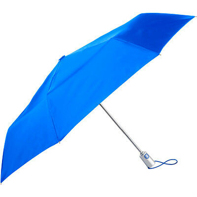 "Totes Auto Open Close 43"" Canopy Umbrella Blue"